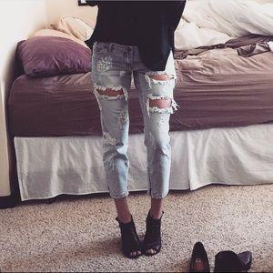 One Teaspoon Skinny Distressed Freebird Jeans
